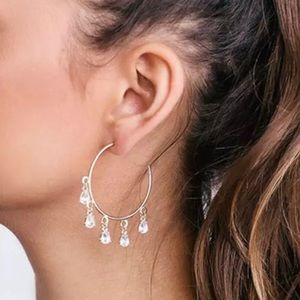 ✨✨NEW✨✨Silver Crystal Hoop Earrings✨✨